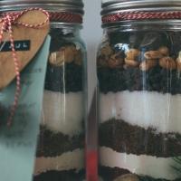 DIY-julegavetips;brownies i norgesglass