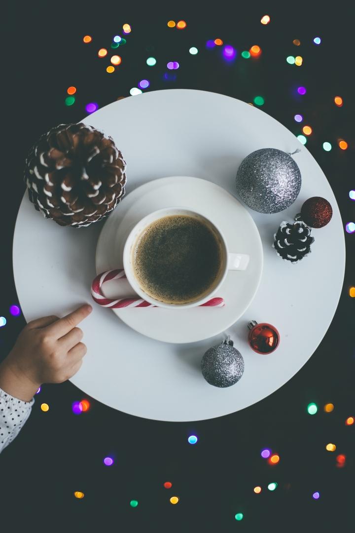 Julestemning kaffe og barn